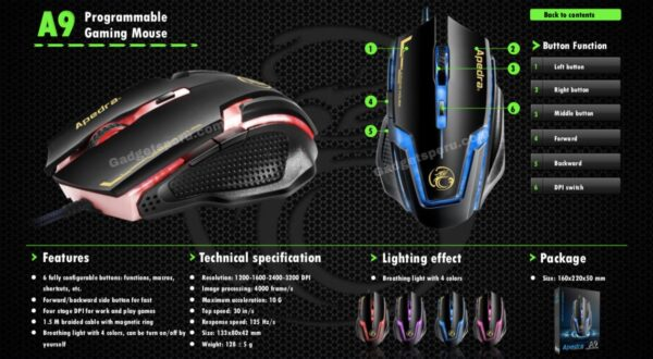 Mouse Gamer A9